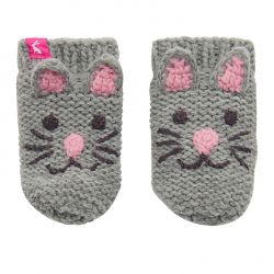 Joules Baby Chum Girls Character Gloves Cat