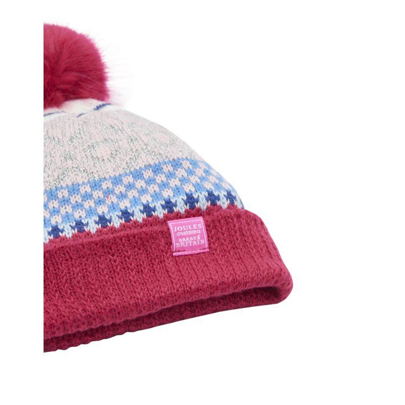 5095c94afff Joules Junior Faith Girls Fair Isle Bobble Hat