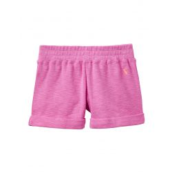 Joules Junior Kittiwake Girls Jersey Shorts Neon Pink Rose
