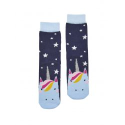 Joules Junior Neat Feet Girls Bamboo Character Socks Glitter Unicorn