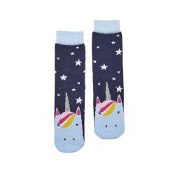 Joules Junior Neat Feet Girls Bamboo Character Socks Glitter Unicorn