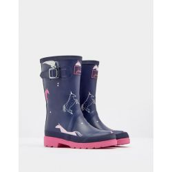 Joules Junior Girls Printed Wellies Unicorn