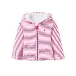 Joules Baby Cosette Girls Reversible Fleece True Pink Stripe