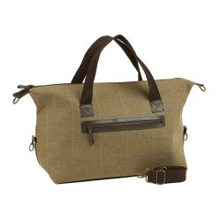Heather Iris Tweed Weekender Bag