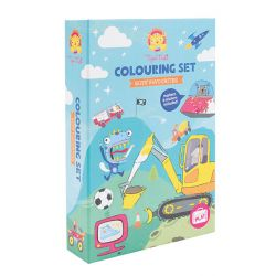 Tiger Tribe Boys Favourite Colouring Set