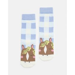 Joules Junior Neat Feet Girls Character Socks Horse