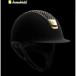 Samshield Shadowmatt Hat Alcantara Sparkling Top Rose Gold Trim