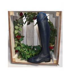 DeNiro Salentino Long Riding Boots Bolgheri Blue
