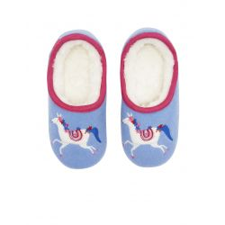 Joules Junior Slippet Girls Applique Slippers Carousel Unicorn