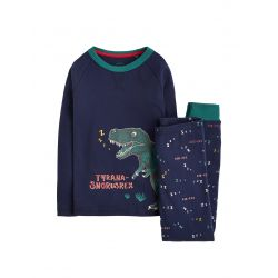 Joules Junior Snooze Boys Glow In The Dark Jersey Pyjama Set