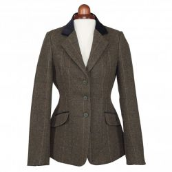 Shires Aubrion Saratoga Ladies Tweed Jacket Green Check