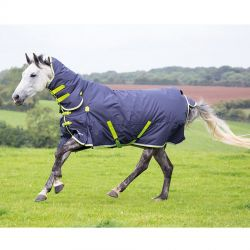 Shires Highlander Original 200 Combo Turnout Rug Charcoal Lime