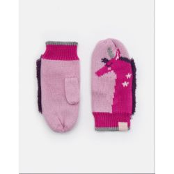Joules Junior Ivey Girls Mittens Unicorn