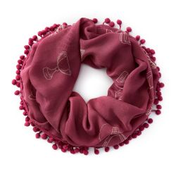 Ariat Saddle Up Infinity Ladies Scarf Rose Violet