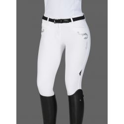 Equiline Ashley Ladies Breeches Knee Grip White