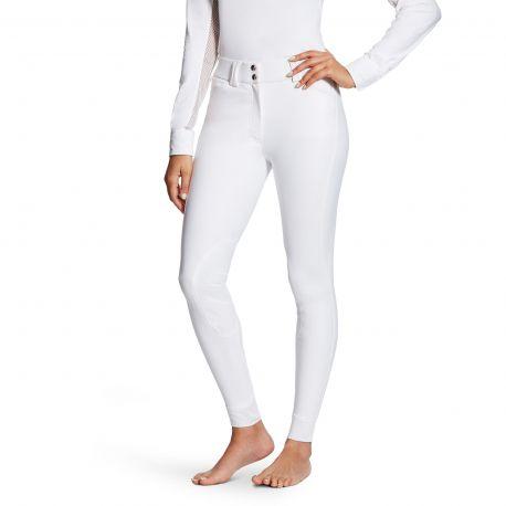 Ariat Tri Factor Grip Knee Patch Ladies Breeches White