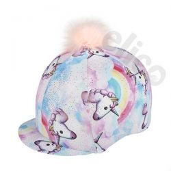 Elico Pastel Unicorn Lycra Hat Cover And Pom Pom