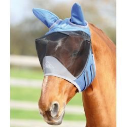 Shires Deluxe Fly Mask With Ears Teal