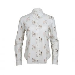 Toggi Lambley Ladies Horse  Print Shirt Tan Print