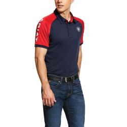 Ariat Team 3.0 Mens Polo Shirt Navy