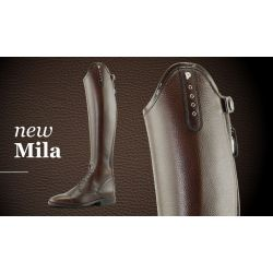 Petrie Mila Leather Riding Boots Black