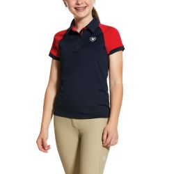 Ariat Team 3.0 Kids Polo Shirt Navy