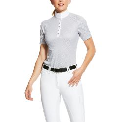 Ariat Showstopper Womens Show Shirt Pearl Grey