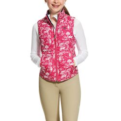 Ariat Emma Reversible Girls Insulated Vest Beet Pink Toile