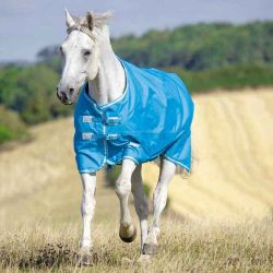Shires Tempest Original Lite Turnout Rug Blue Grey