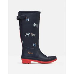 Joules Printed Tall Height Ladies Wellies Mayday Dogs