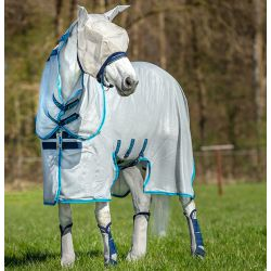 Horseware Amigo Bug Buster Silver Electric Blue