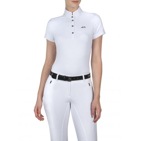 Equiline Team Ladies Competition Shirt White
