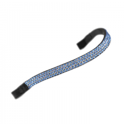 Shires Aviemore Wide Diamante Browband Blue Black