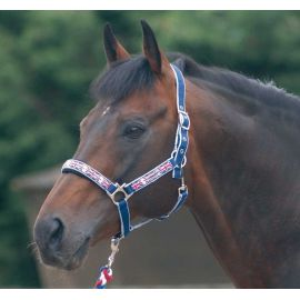 Cottage Craft Union Jack Headcollar And Rope