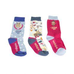Toggi Tropical Childrens Three Pack Socks