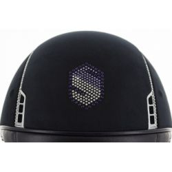 Samshield Shadowmatt Riding Hat Swarovski Shield Top