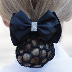 Equetech Velvet Dressage Crystal Bow And Net