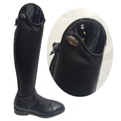 DeNiro Salentino Long Riding Boots Patent Top