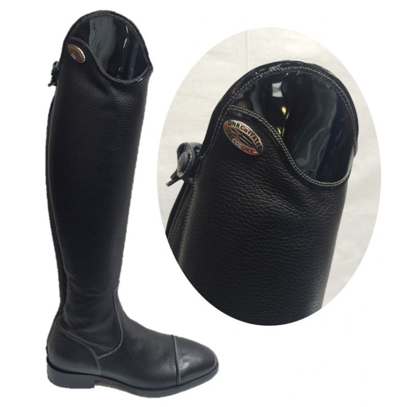 Deniro Salentino Long Riding Boots Patent Top