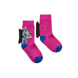 Joules Junior Neat Feet Girls Zebra Character Socks
