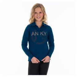 Anky Kids Printed Shield Long Sleeved Polo Shirt ATK162201