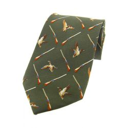 Soprano Flying Ducks Country Silk Tie