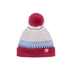 Joules Junior Faith Girls Fair Isle Bobble Hat