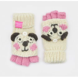 Joules Junior Chum Girls Character Gloves Panda