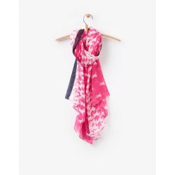 Joules Wensley Ladies Long Woven Scarf Cerise Pink Horse