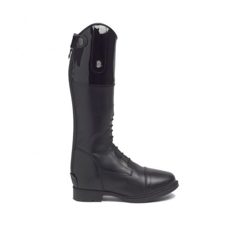 Brogini Ginny Laced Front Childrens Riding Boot Patent Top