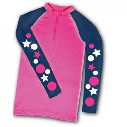 Carrots Cross Country XC Theme Top Pink And Navy