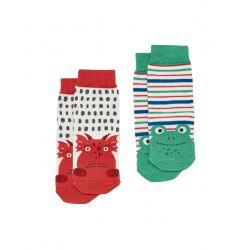 Joules Baby Neat Feet Boys Two Pack Bamboo Socks Dragon