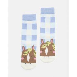 Joules Junior Neat Feet Girls Character Socks Horse