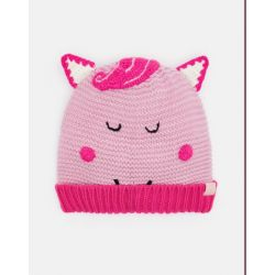 Joules Junior Chummy Girls Character Bobble Hat Horse